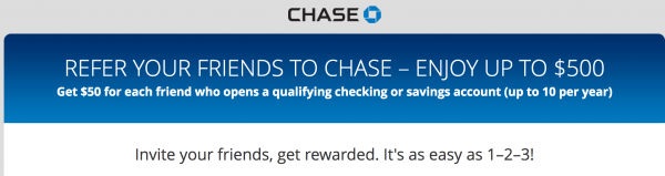 Chase Now Offers $50 Referral Bonus For Checking & Savings
