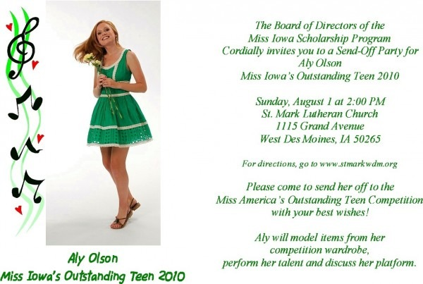 11 Best Photos Of Pageant Send Off Party Invitation