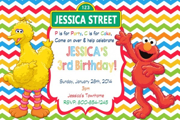 Sesame Street Birthday Invitations Sesame Street Birthday