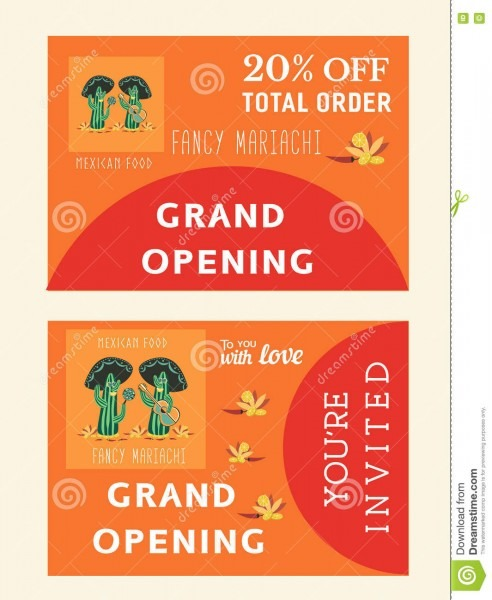 Set Of Templates For Mexican Restaurant Stock Vector