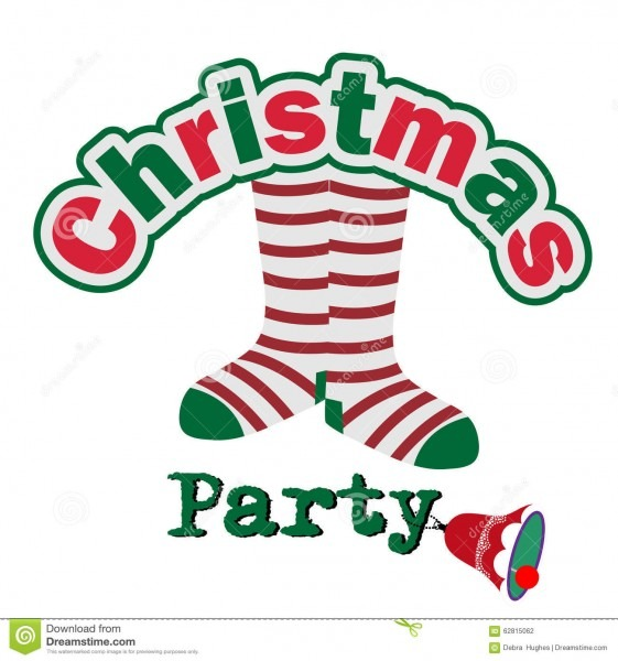 Silly Christmas Party Invitation Stock Vector