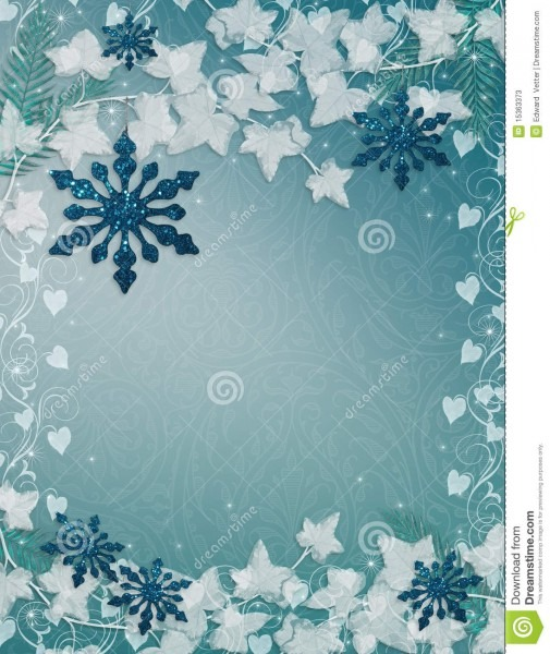 Snowflakes Background Blue Stock Illustration  Illustration Of