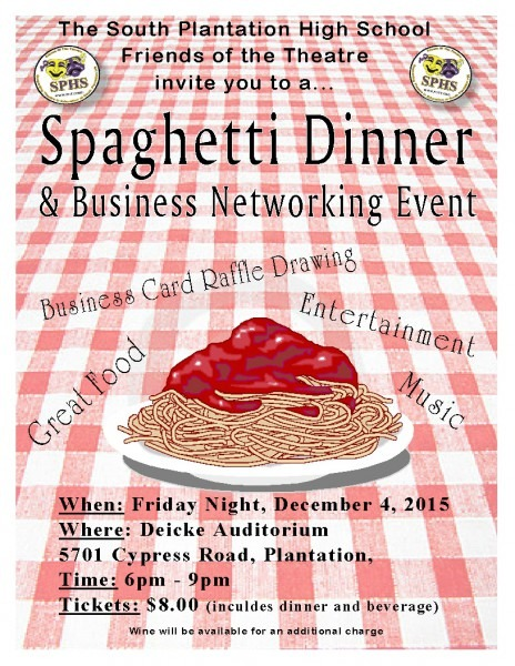 Spaghetti Dinner And Business Networking Event