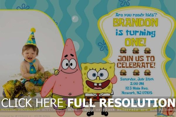 95+ Spongebob Birthday Invites Templates