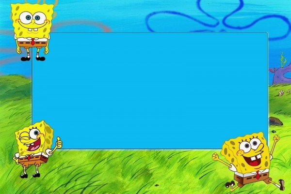 Spongebob Birthday Invitation Layout From 1 Combined With Your