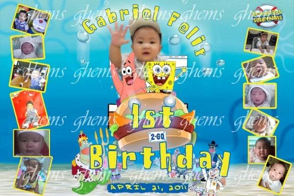 Spongebob Birthday Tarpaulin Invitation Layout From 3 And Get