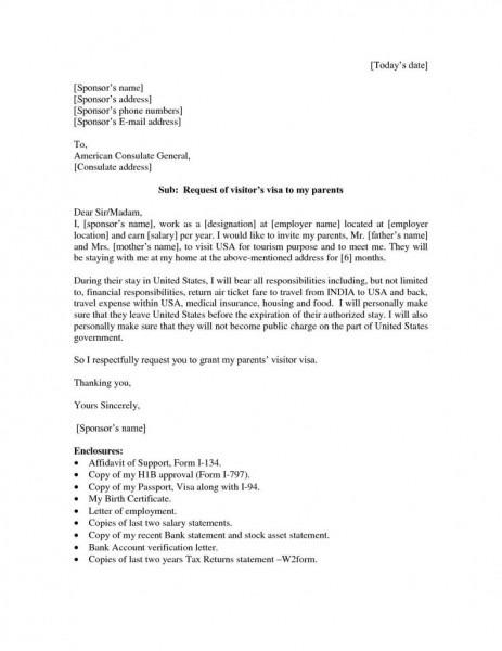 Sponsor Letter Sa Sample Invitation Letter For Us Tourist Visa For