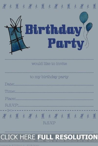 96+ Birthday Invitations Sizes