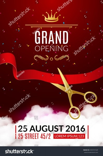Stock Vector Grand Opening Invitation Card Grand Opening Event