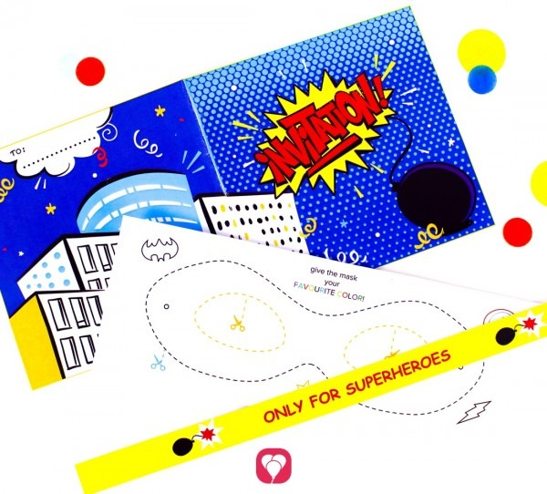 Superhero Invitation Card For Your Kids Birthday Party