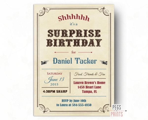 20 Best Ideas Surprise Birthday Invitations For Adults