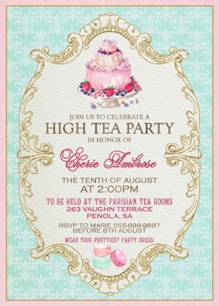 Tea Party Invitation Ideas
