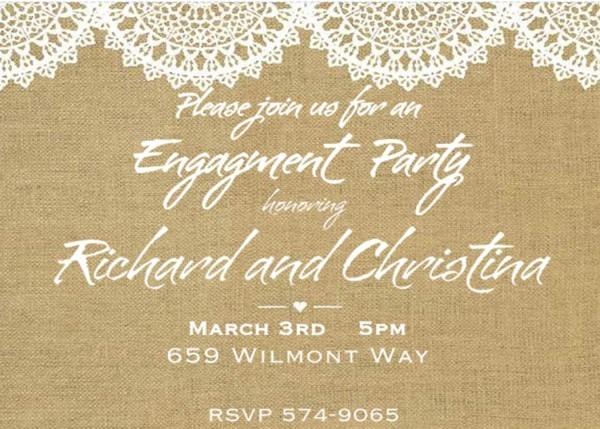 Engagement Invitation Templates Wording Linksof London Us Image