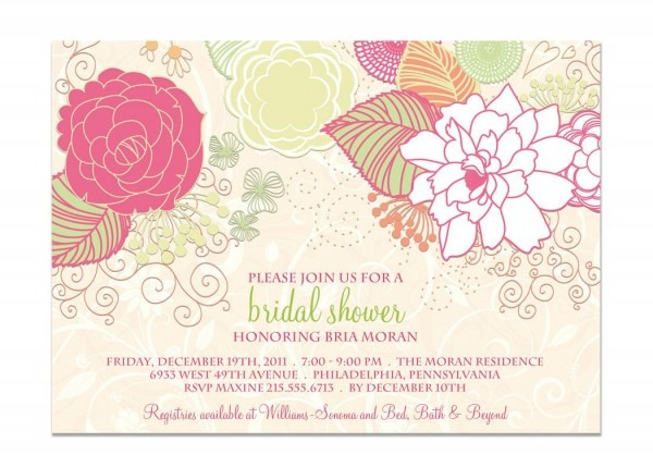 Vintage Bridal Shower Invitations Etsy