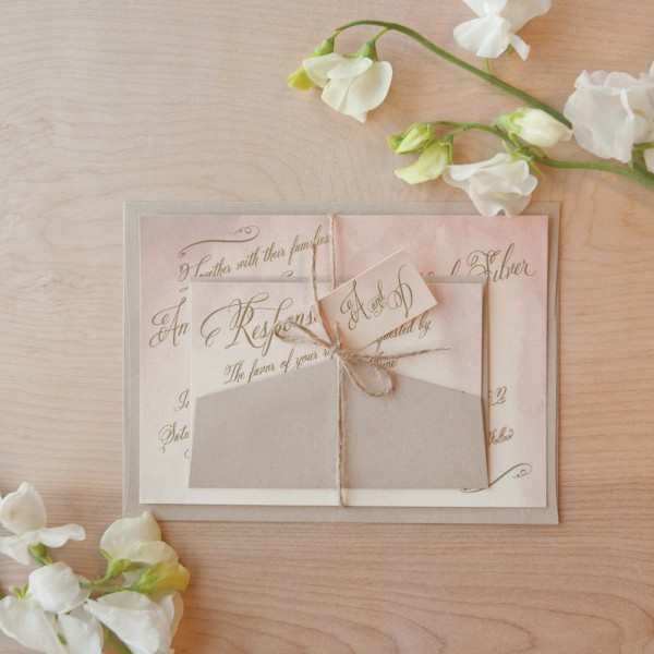 Watercolor Wedding Invitations Handmade Weddings By Etsy Vintage
