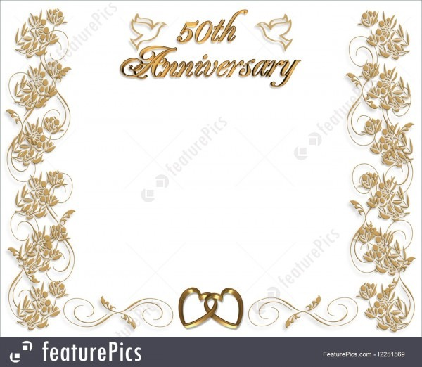 Templates  Wedding Anniversary Invitation 50 Years