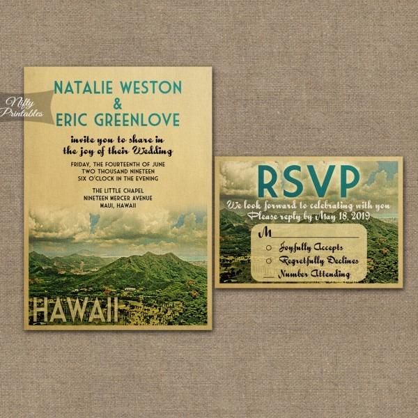 Hawaii Wedding Invitations Vtw