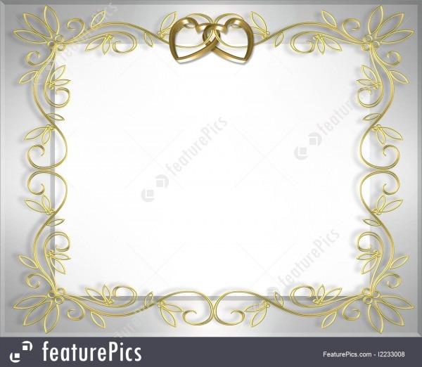 Wedding Invitation Background Border