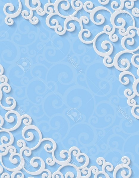 Wedding Invitation Card Blue Background Design