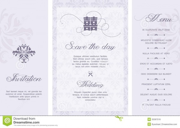 Wedding Invitation Stock Vector  Illustration Of Card