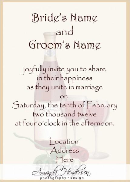 Wedding Invitation Wording From Bride And Groom Wedding Invitation