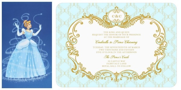 Cinderella Wedding Invitation Lily James  Official Disney